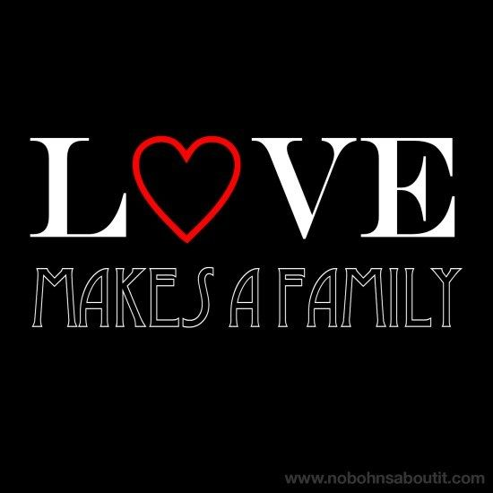Love Makes a Family #adoption #quote #fostercare #adoptionquotes