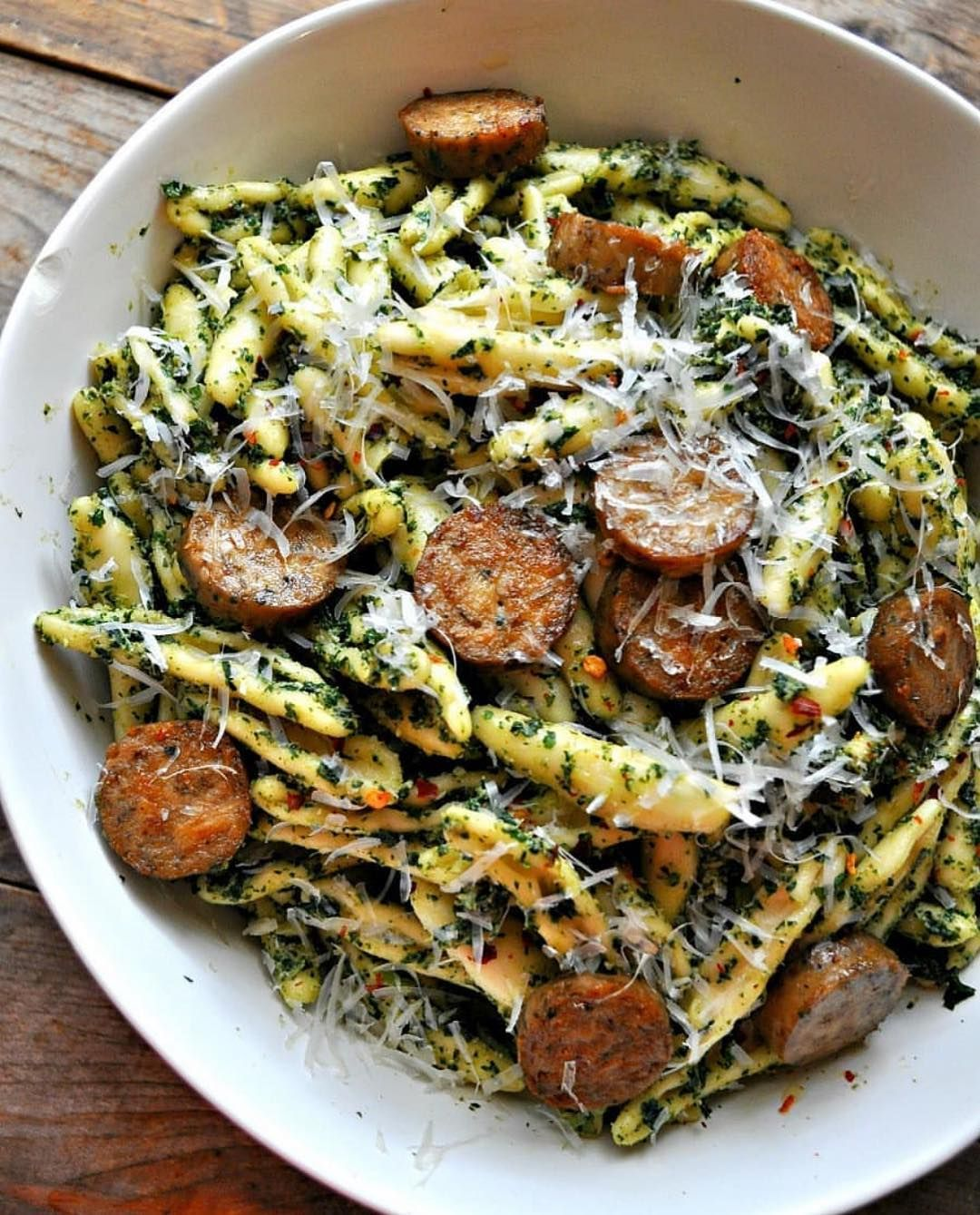 Vegan Roasted Kale Pesto With Sausage Dont Be Tricked