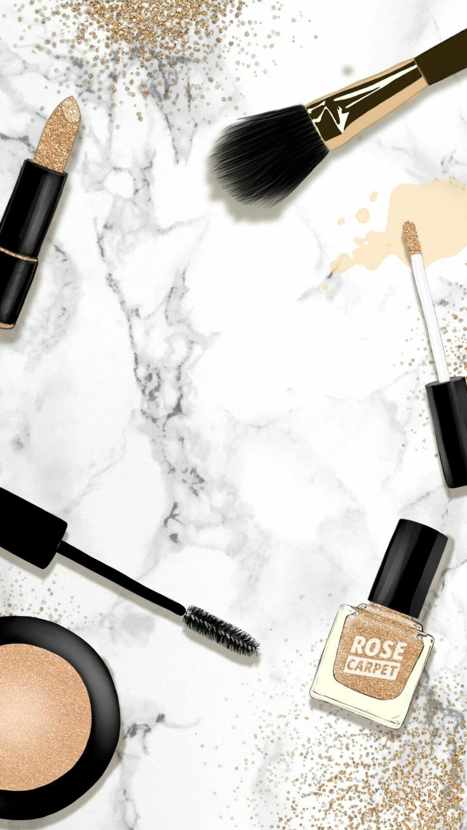 Pinterest: @EnchantedInPink♡ ♡   Backgrounds in 2019   Makeup wallpapers, Makeup backgrounds ...
