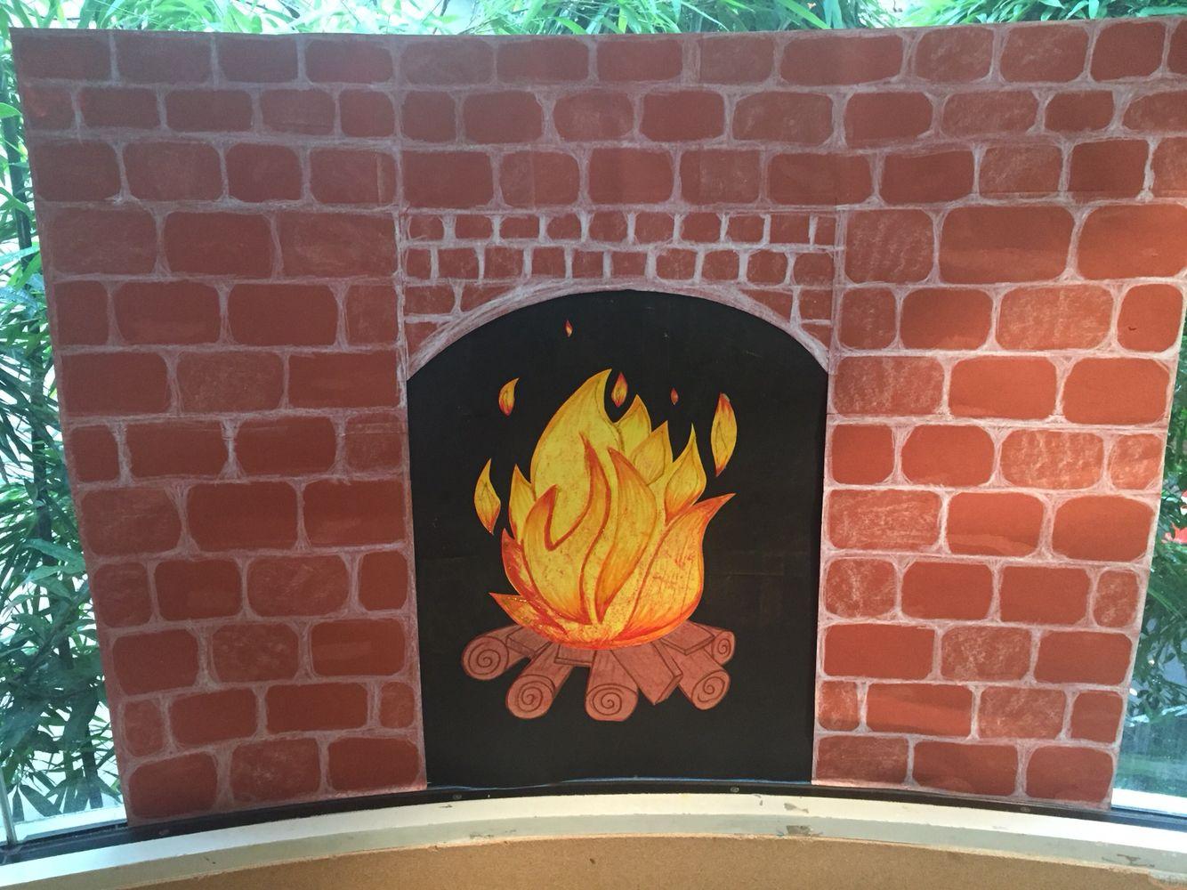 Kindergarten classroom window - Construction Paper Fireplace I Made For Our Kindergarten Classroom Window