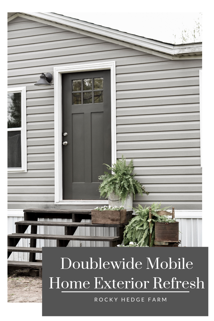 Mobile Home Spring Porch Rocky Hedge Farm Mobile Home Exteriors House Exterior Remodeling Mobile Homes