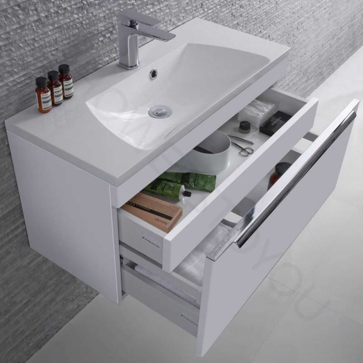 Roper Rhodes Cypher Wall Hung Unit with Isocast Basin : UK Bathrooms