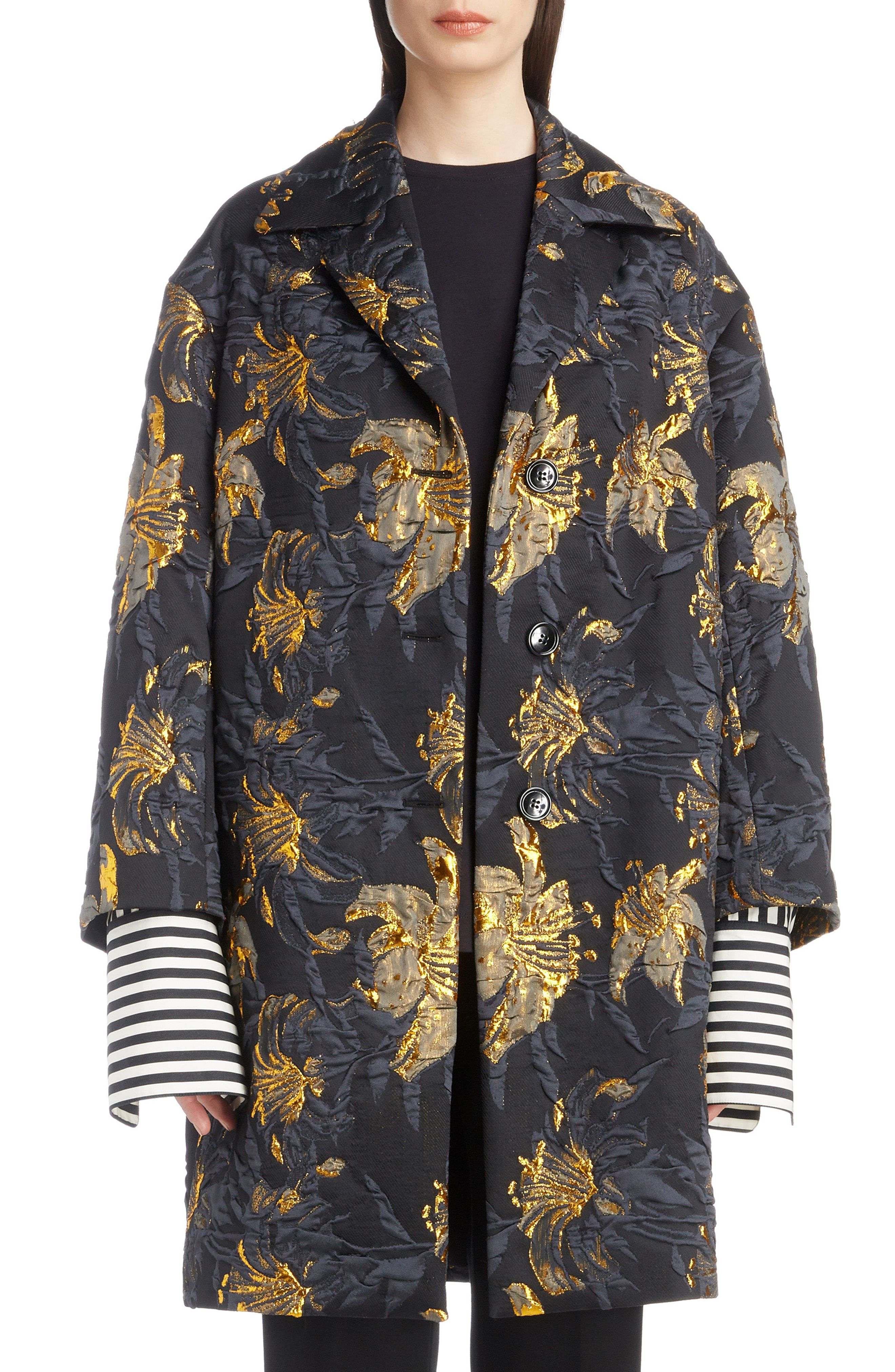 Dries Van Noten Metallic Jacquard Topper available at  Nordstrom ... cd2373902