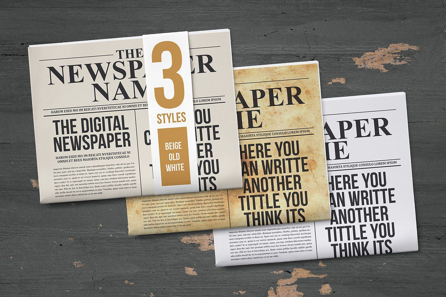 Classy Newspaper Indesign Template by Luuqas Design on ...