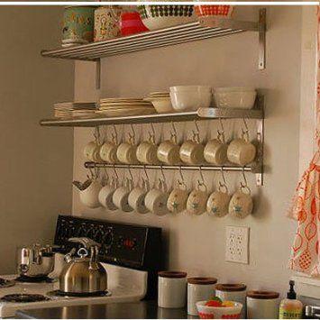 Amazon Com Ikea Grundtal Long 1 Kitchen Shelf 1 Rail And 10