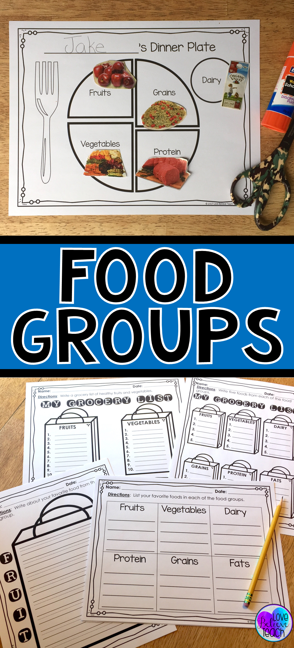 Food Groups Sorting and Searching Activities | Children\'s Activity ...