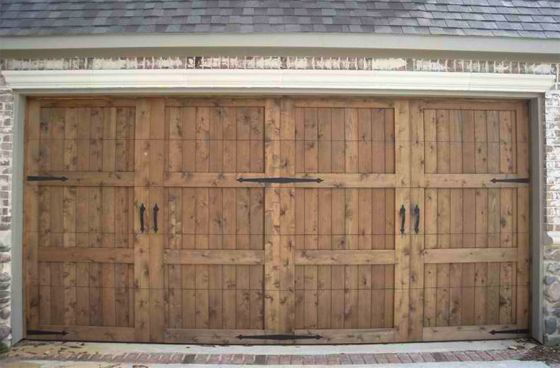 Custom Hand Crafted Wood Garage Doors Plano Texas 972 599 1224