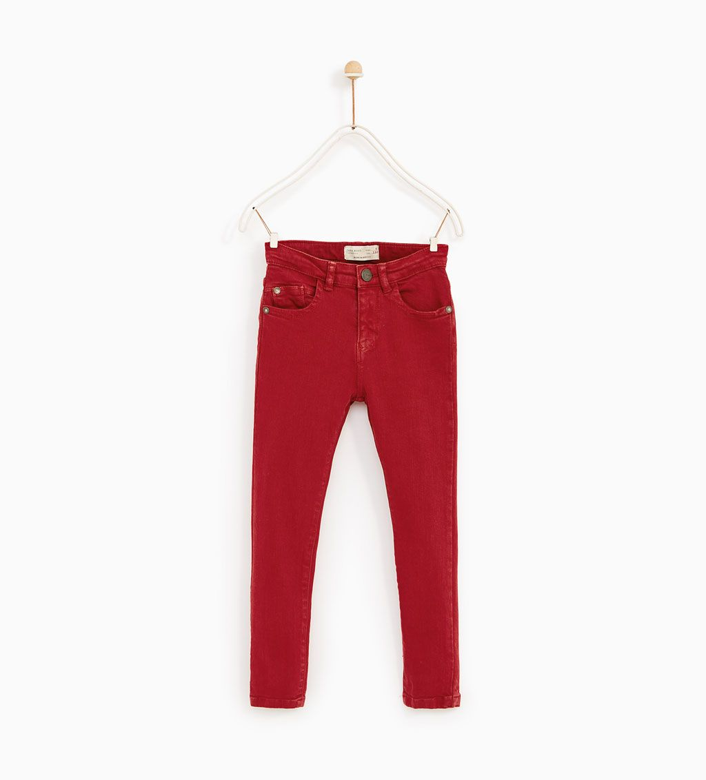 Image 1 of SKINNY TWILL JEANS from Zara