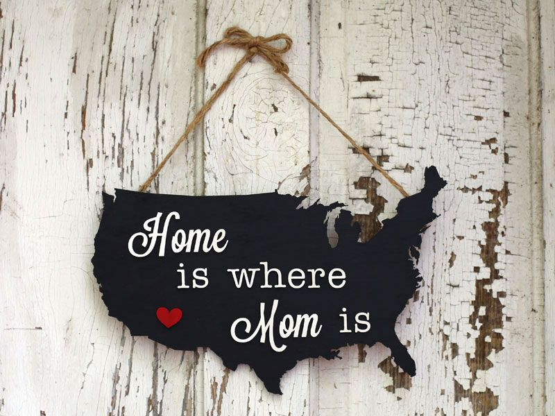How To Make A Mother S Day Map Plaque Diy Diy Mother S Day