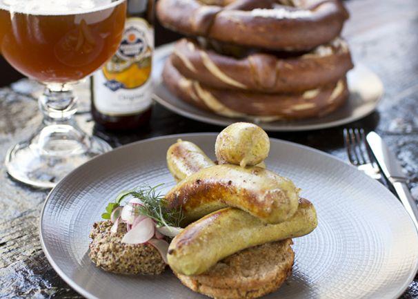 Bronwyn Union Square Somerville Sausage Beer Pretzel Bringing Bavaria To