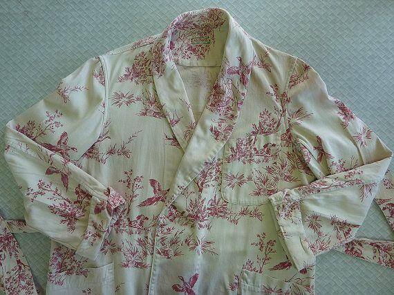 Vintage 1940s McGregor Sportswear Men's Cotton Robe