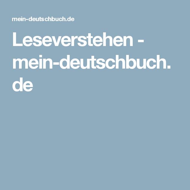 Leseverstehen - mein-deutschbuch.de