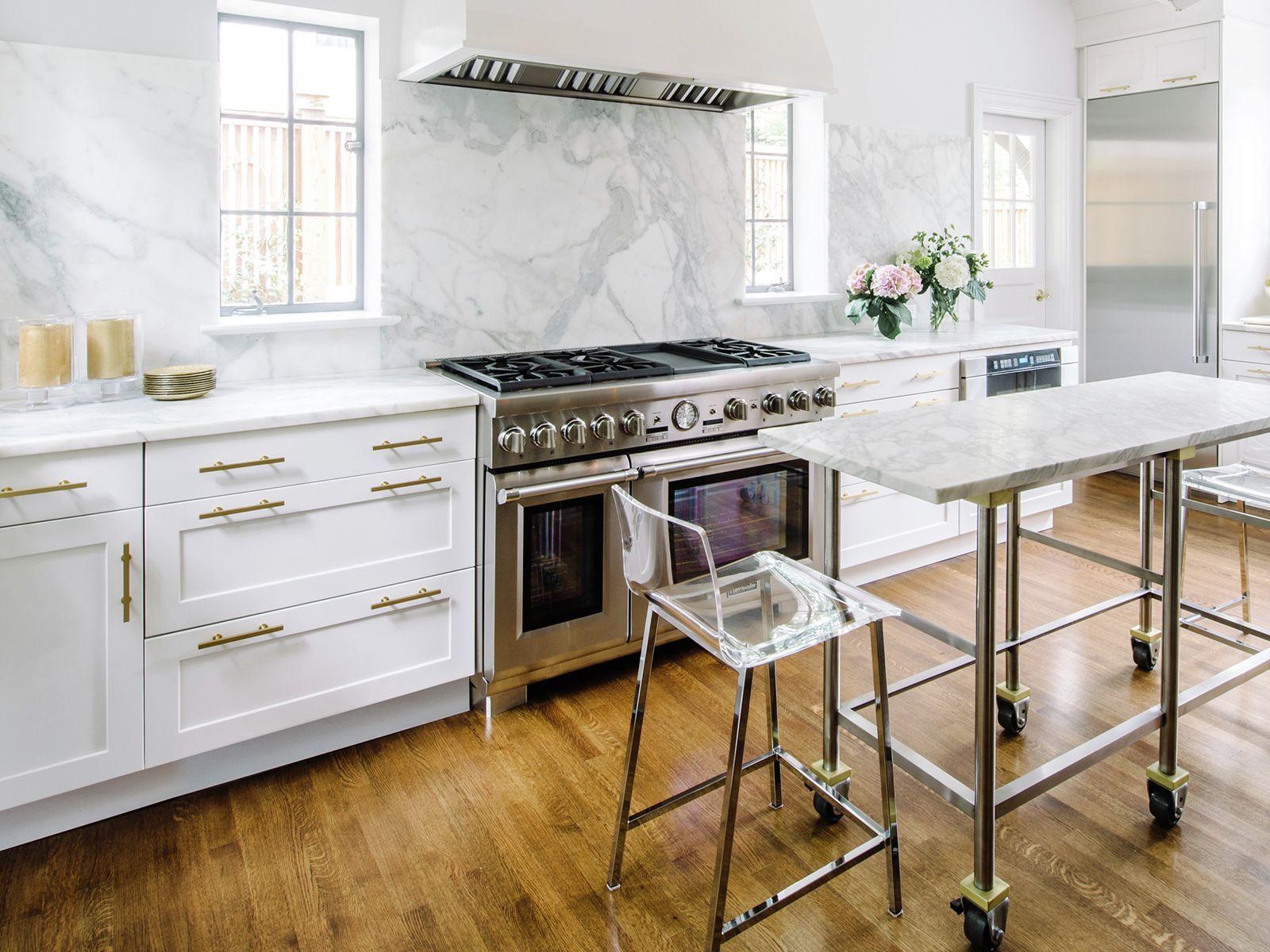 48 Inch Range White Marble Clear Chairs Kitchen Kitchen