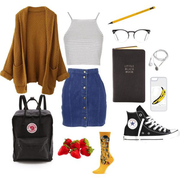 Art Hoe School By Studiomag On Polyvore Featuring Topshop Thierry Mugler Hot Sox Converse