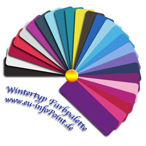 Sommertyp Farbpalette, Winter Typ Und