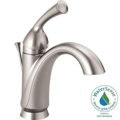 Delta Haywood Single Hole Single-Handle Bathroom Faucet in Stainless ...