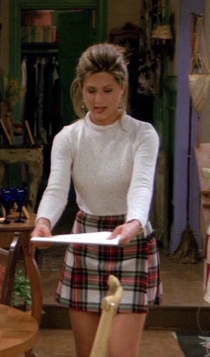 Jennifer Aniston The One With The Schoolgirl Outfit On