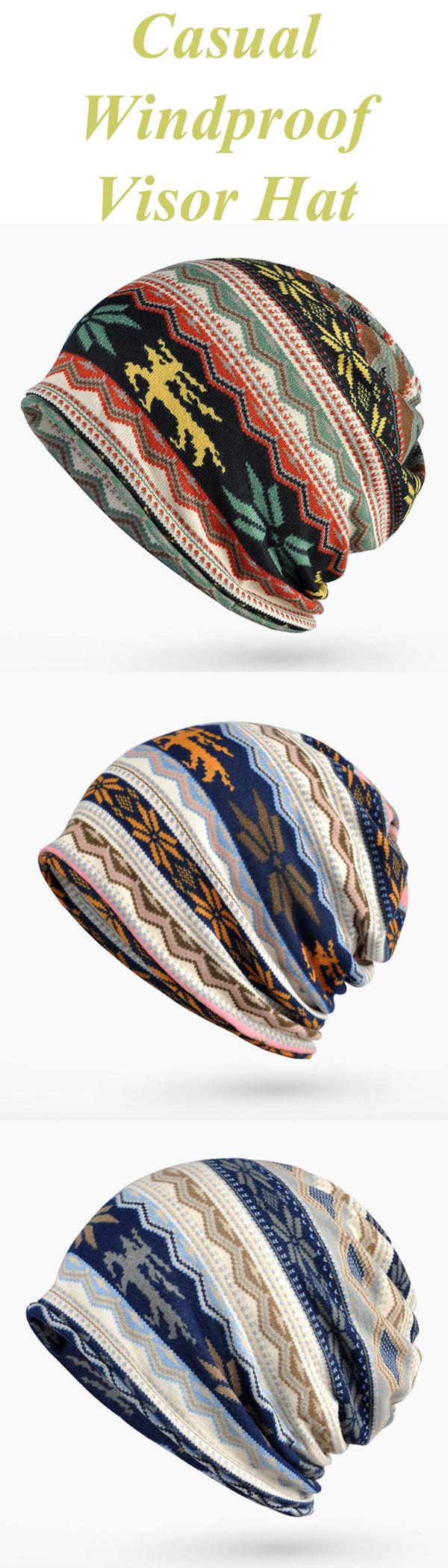 9e3f3442 US$ 6.88 Cotton Print Bonnet Cap Comfortable Multi-function Neck Scarves  Casual Windproof Visor Hat For Women