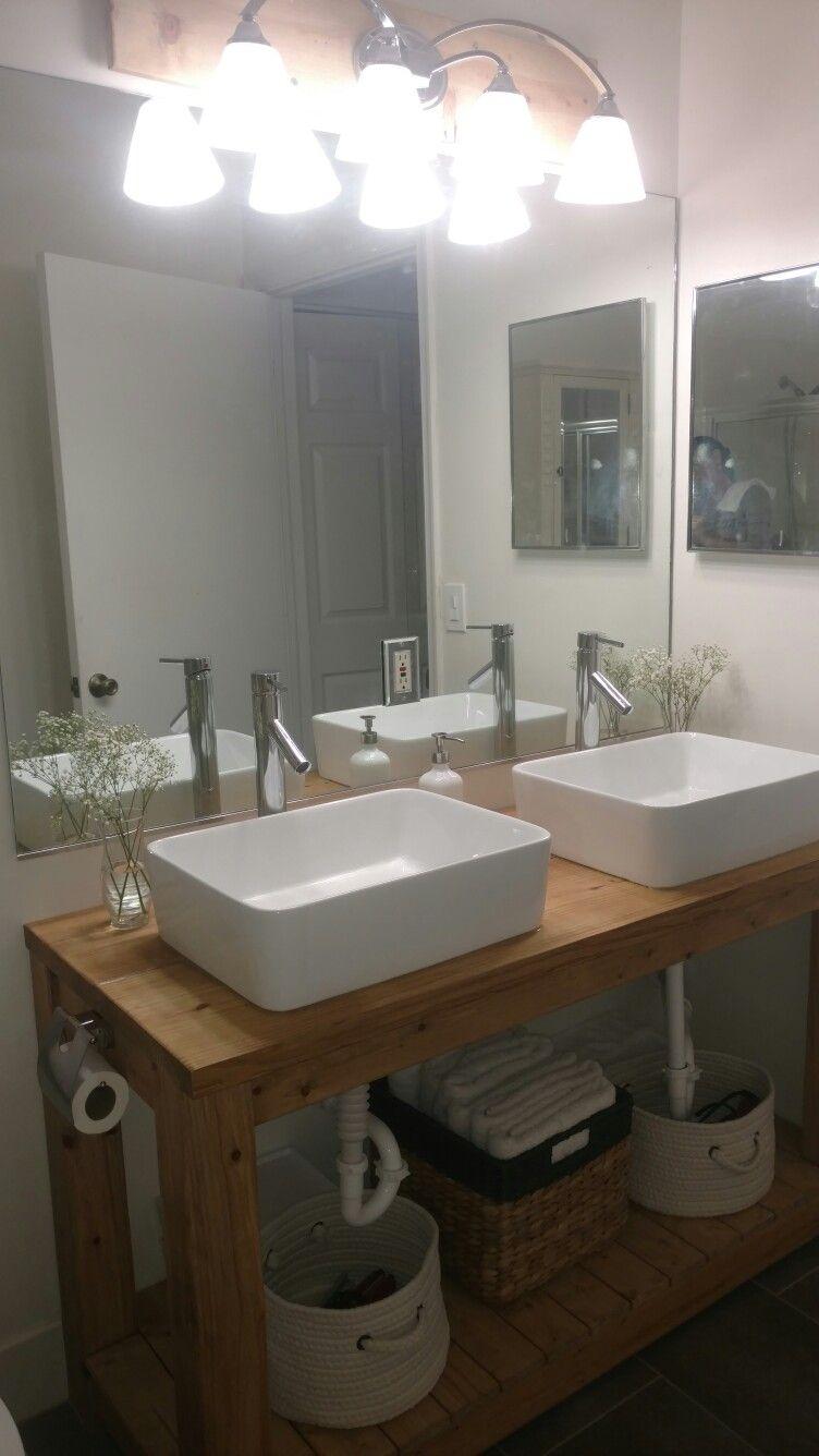 modern farmhouse bathroom  baños