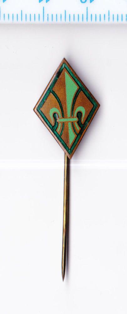 Vintage enamel German Scouting pin badge Kundschaften Anstecknadel