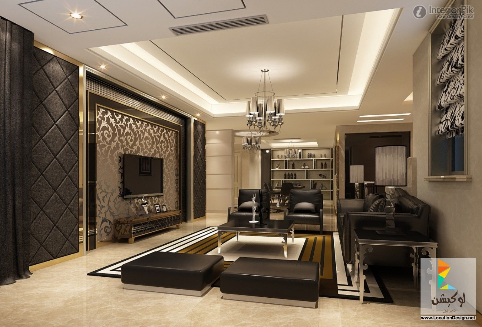 Villa living room tv wall stairs and corridors - Enthralling New Modern Living Room Lcd Tv Background Wall Decoration Effect Modern Wall Decor 16 Marvelous Living Room Designs That Will Leave You