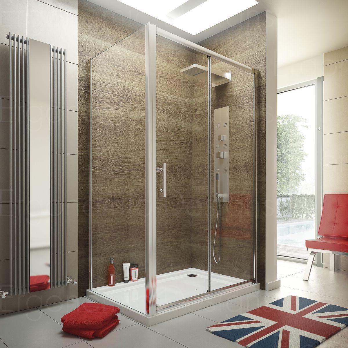 Ergonomic Designs Sliding Door Shower Enclosures EDSL12-EDFSP80 ...