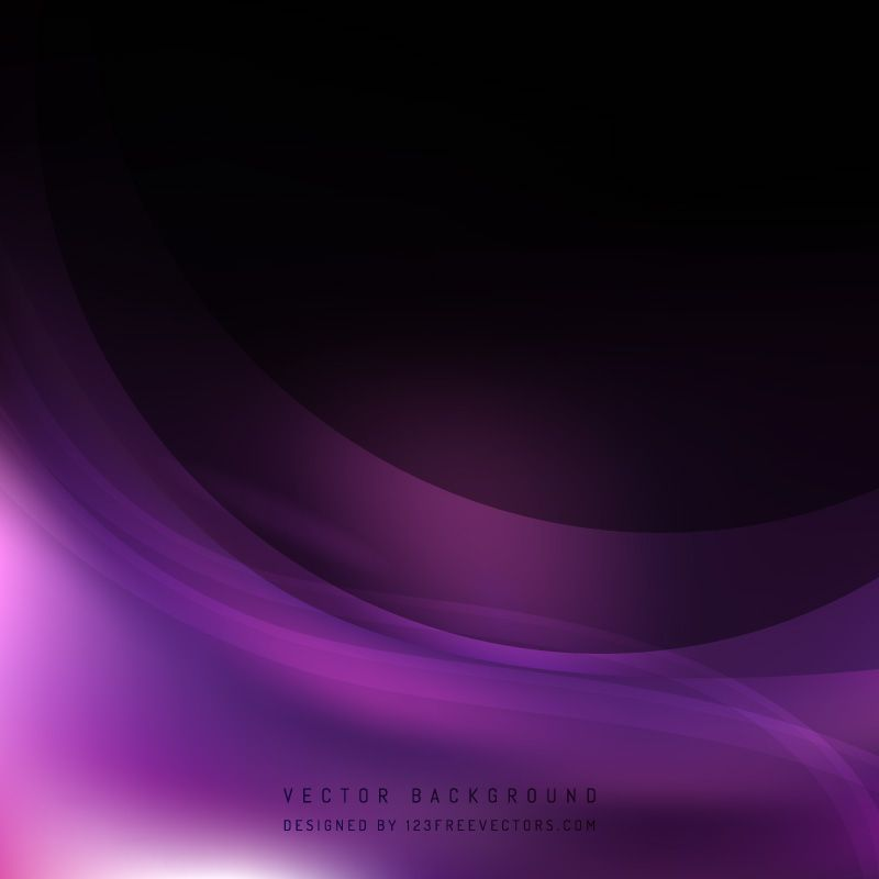 Abstract Purple Black Wave Background Template Waves Background