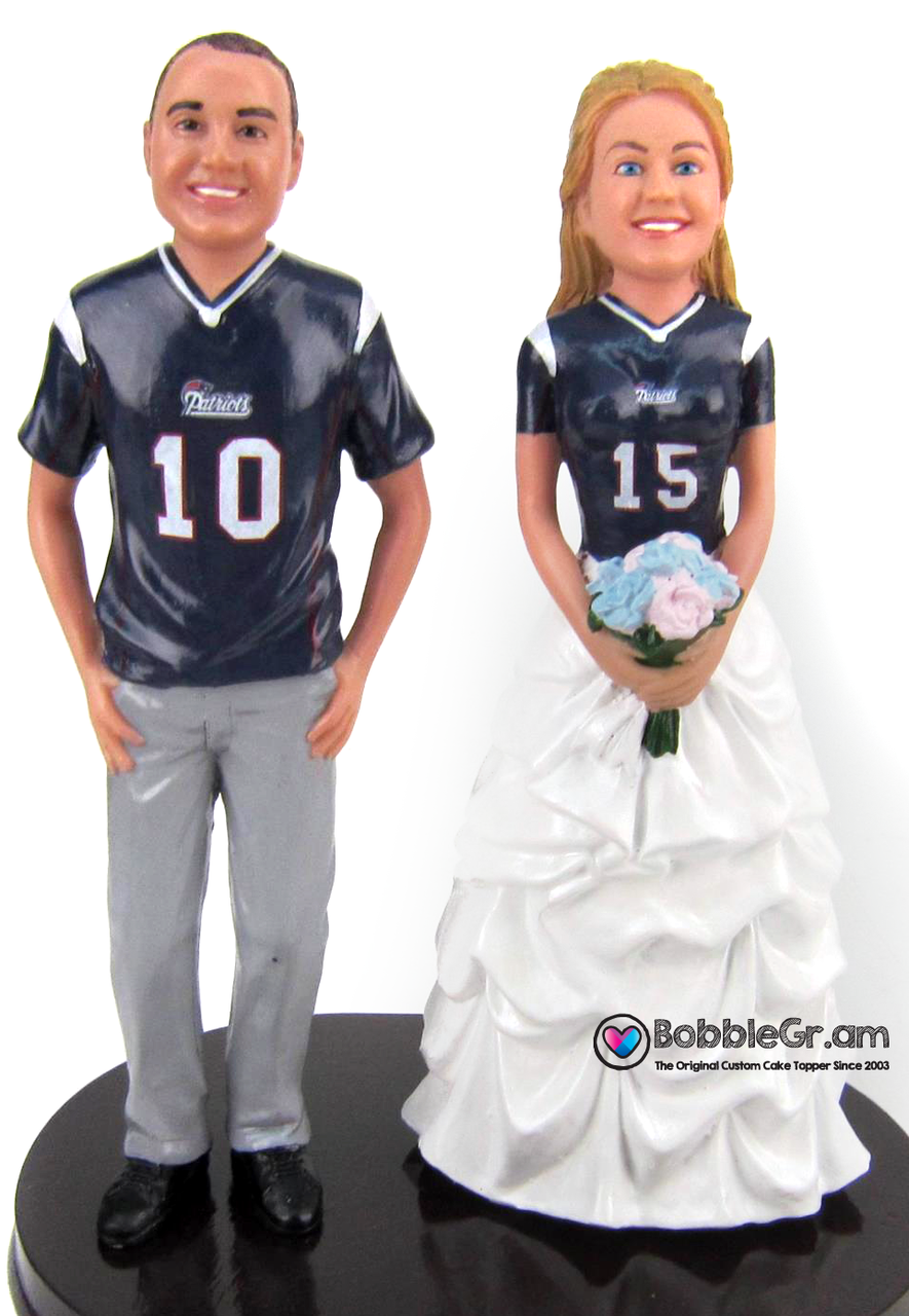 Custom Football Themed Wedding Cake Topper | Pinterest | Football ...
