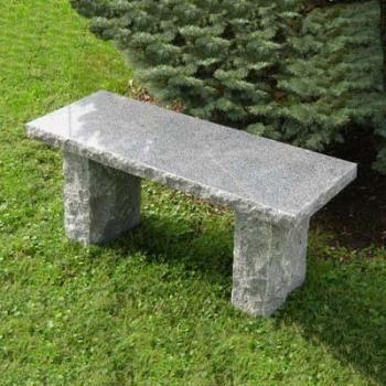 Solid Charcoal Granite Stone Bench #garden #bench #stone #granite