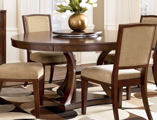 Round Dining Set 4 Seater Wooden Dining Room Table Circular Dining Table Dining Room Furniture Sets