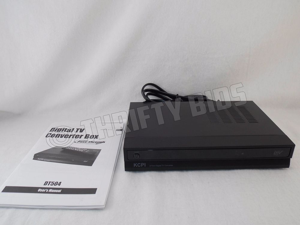 kcpi dt504 digital converter box dtv tv tuner manual no remote rh pinterest com Digital TV Converter Box Walmart Digital TV Converter Box Walmart
