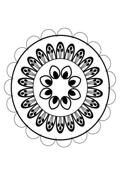 Coloriage Mandala Nature.Coloriage Mandala Nature 3 Mandalas Pinterest