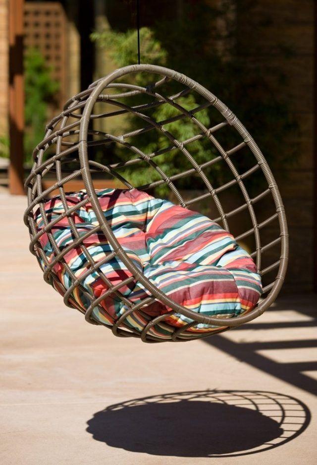 Silla colgante nido de mimbre sillas colgantes - Sillas colgantes de mimbre ...
