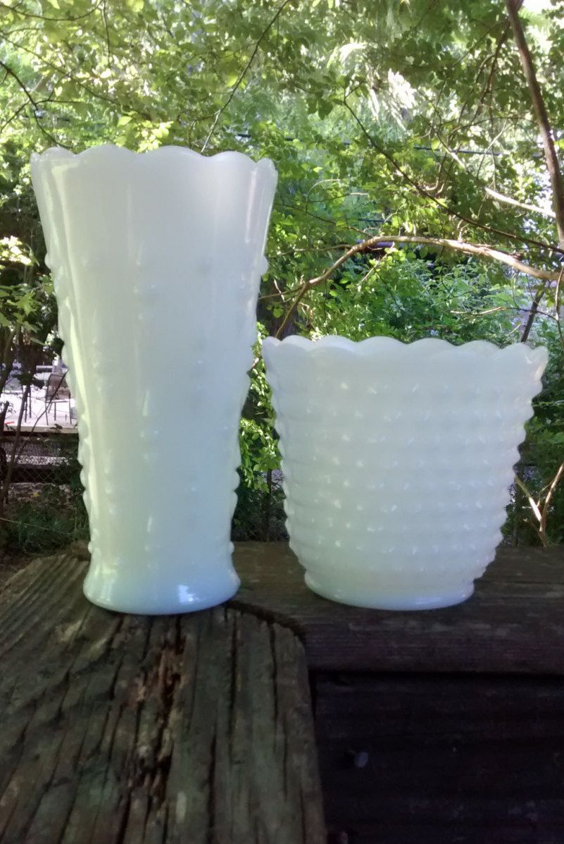 Milk glass vases vintage milk glass vase lot of two hobnail milk glass vases vintage milk glass vase lot of two hobnail milk glass vase reviewsmspy