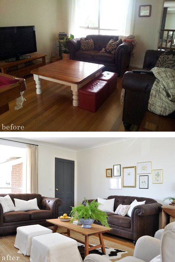 Same Brown Sofas Amazing Difference How To Decorate Around Couches