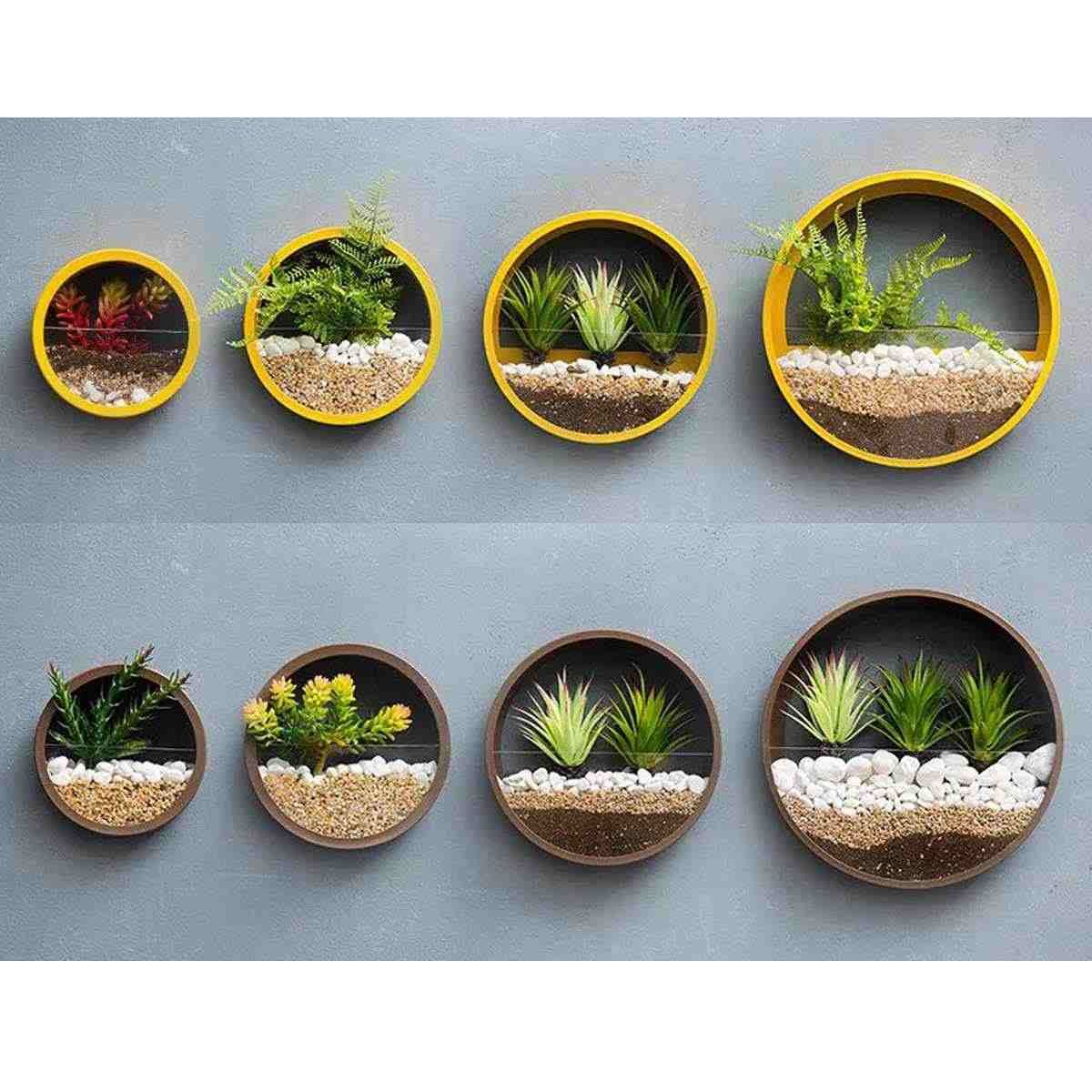 Wall Vase Metal Iron Art Solid Color Round Vase Artificial Flower Basket Wall Planter Hanging Vases For Home Decoration Crafts Aliexpress In 2020 Hanging Flower Pots Wall Mounted Vase Wall Vase