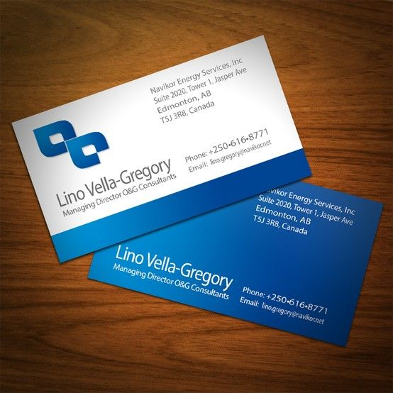 Business Card Design For Energy Consultant