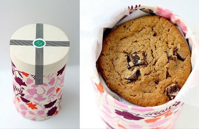 DIY wooden canister of cookies