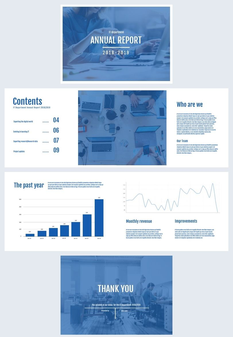 Blue Annual Report Template Report Template Templates Blue