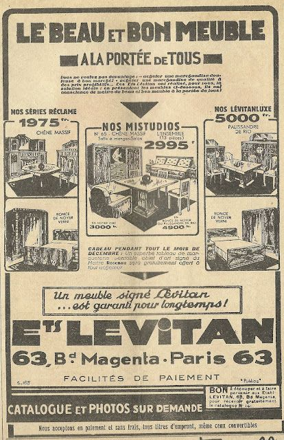 1930s French Ad Le Beau Et Bon Meuble The Beautiful And Good Furniture Fondo De Pantalla Para Telefonos Fondos De Pantalla Alas