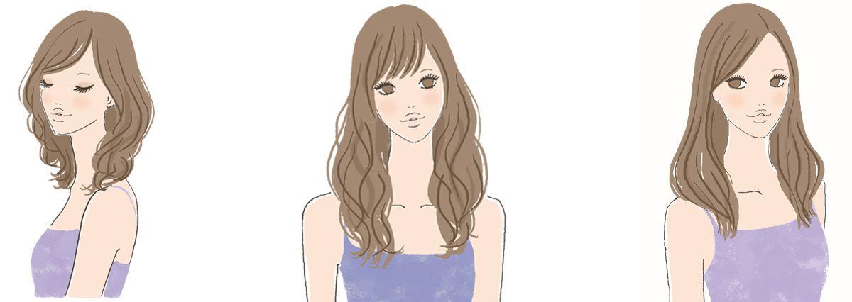 ウェーブタイプに似合う髪型 出典 森本のり子著 骨格診断 R と髪質診断で見つける もっと似合う髪型の法則 ウェーブ 髪型 髪型 診断 ウェーブタイプ