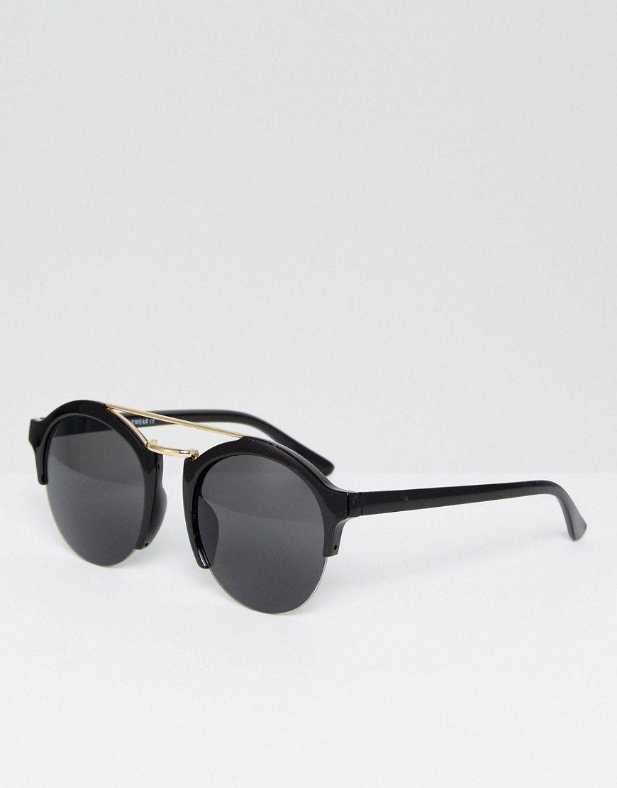 5a87c5128c 7x Round Sunglasses in Black - Black