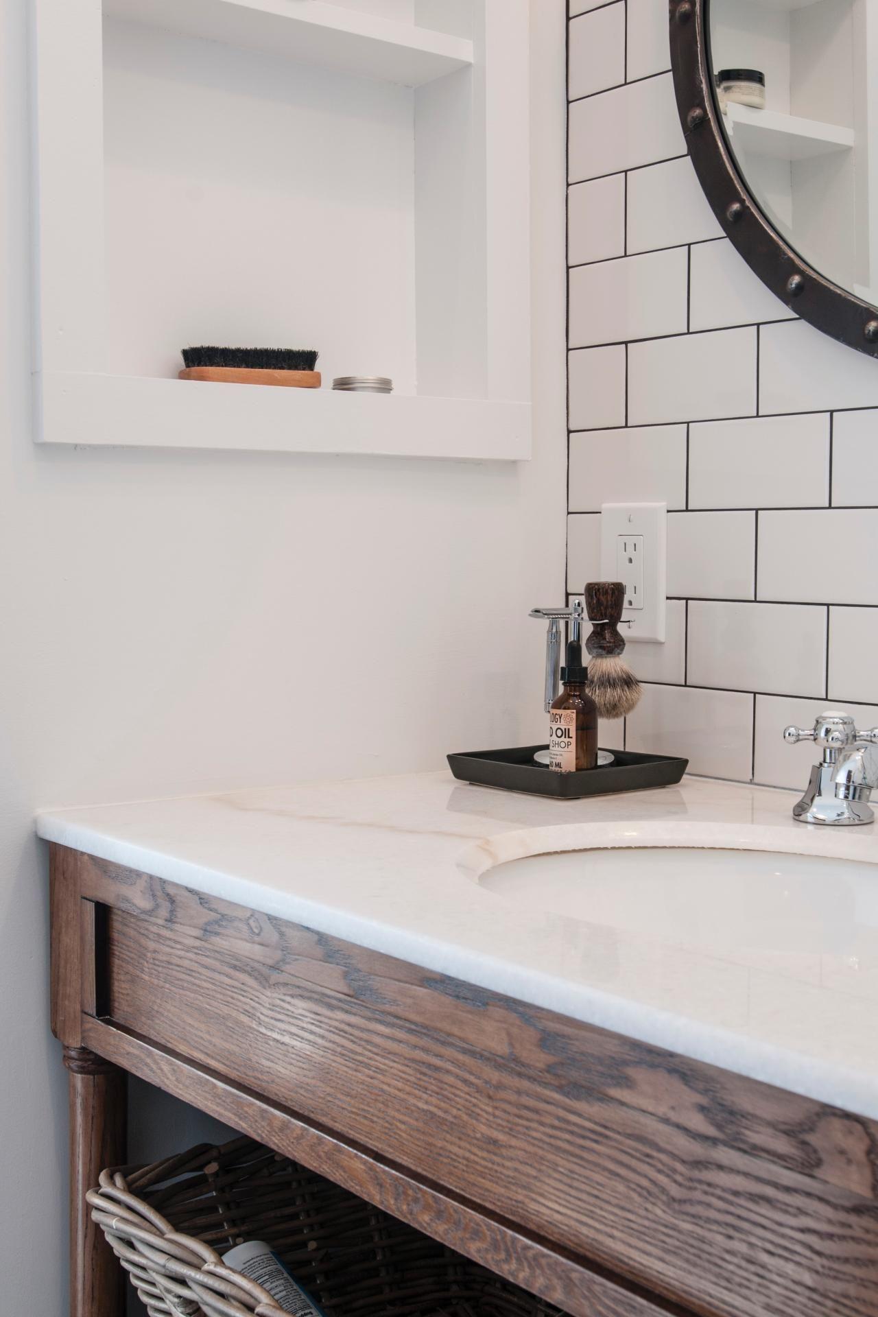 Photos Hgtv Timeless Subway Tile Bathroom Backsplash Lowes