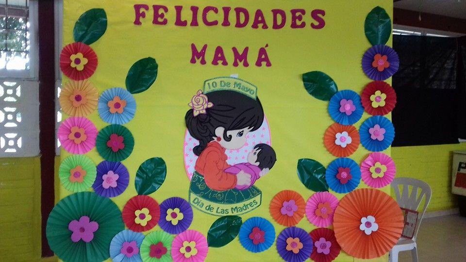 Peri dico mural del d a de las madres material educativo for Puertas decoradas para el 10 de mayo