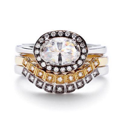 Oval Rosette Ring - White Diamond – Anna Sheffield Jewelry