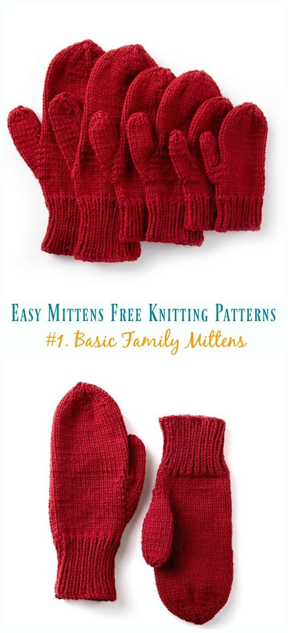 Quick Easy Mittens Free Knitting Patterns Easy Knitting