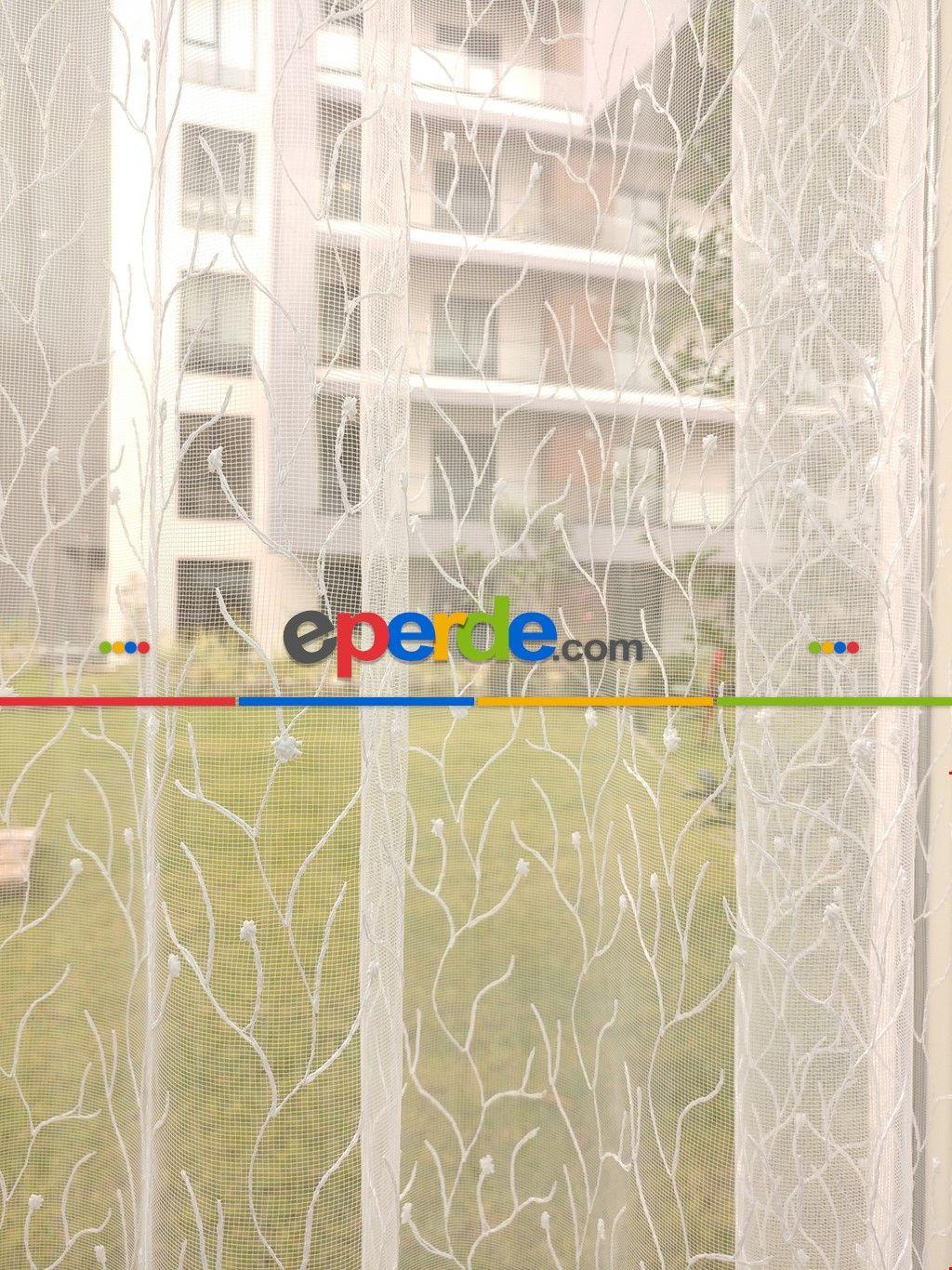 Einfaches hausfensterdesign brode İşlemeli tül perde  new collection  perde  pinterest
