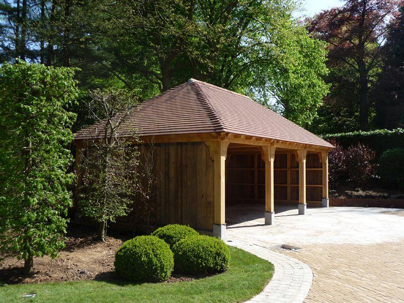carport made by man at work belgium carport avec une charpente en ch ne tenons et mortaises. Black Bedroom Furniture Sets. Home Design Ideas