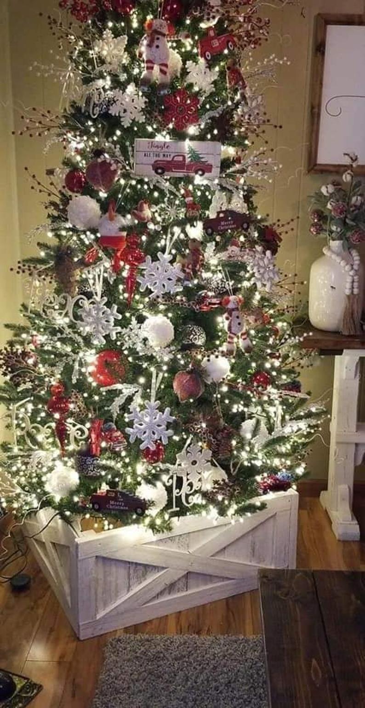 Christmas Tree Collar Christmas Tree Box Tree Collar Etsy In 2020 Cool Christmas Trees Christmas Tree Box Dollar Tree Christmas Decor