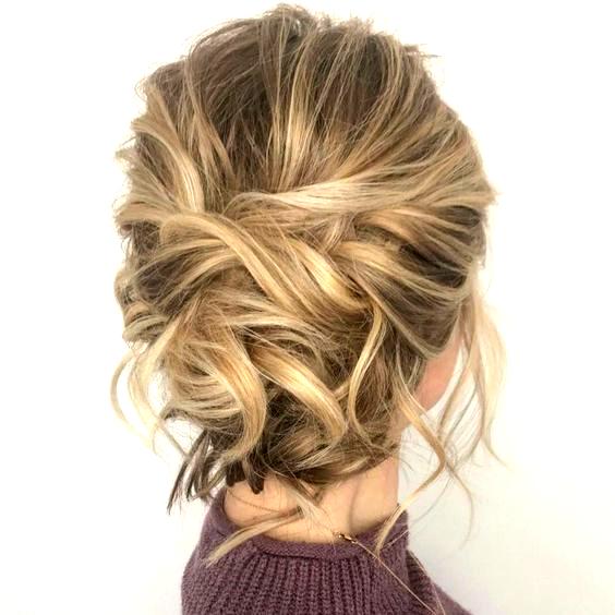 Tousled Updo For Medium Fine Hair In 2020